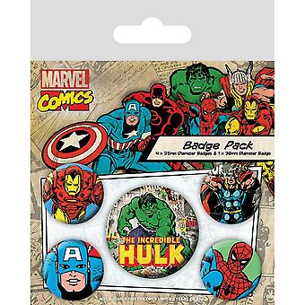 Marvel Comics Hulk Badge Set (Pack de 5)