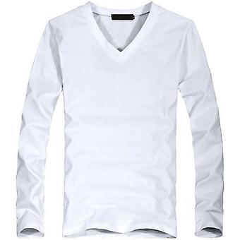 V-neck Long Sleeve Men T Shirt