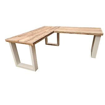 Wood4you New England hoekbureau steigerhout 200/120Lx57Dx75H