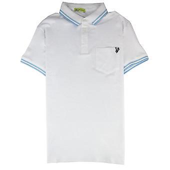 Versace Jeans Piquet Przednia Kieszeń Logo S/s Polo White