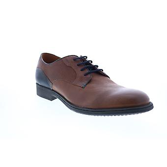 Geox U Jaylon Mens Brown Leather Oxfords & Lace Ups Plain Toe Shoes