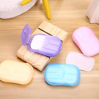 Convenient Washing Hand Wet Wipes Travel Paper Soap Scented Slice Sheets