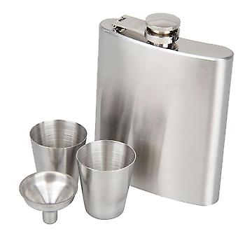 KCASA 8 Ounce rustfrit stål Hip Kolbe sæt med tragt Hip Pocket Flagon Whisky Brandy Vodka Pot Mænd