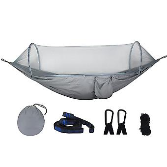 270x140cm Auto Quick Open Hammock Outdoor Camping Hanging Swing Bed With Mosquito Net Max Load 250kg
