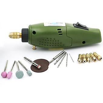 Elektrisk kvarn miniborr för dremel slipaggregat 12v dc dremel tillbehör verktyg för fräsning polering borrning skärgrav