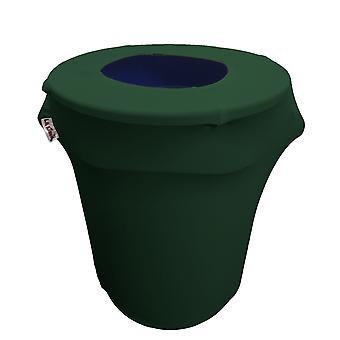 La Linen Stretch Spandex Trash Can Cover 32-Gallon Round,Hunter Green