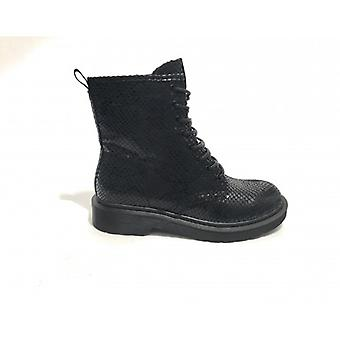 Women's Shoes Gold&gold Amphibian In Faux Leather Reptile Print Black Color D20gg45