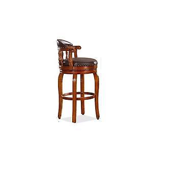 Деревянный дом Малый бар Мебель стол и кожаный стул бар