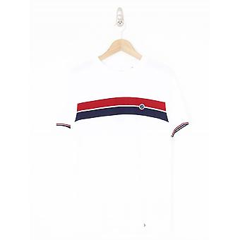 Pretty Green Chest Stripe T.Shirt - White