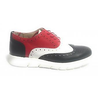 Мужская обувь Tony Wild Francesina Brogue Кожа Белый Красный И Синий Us17tw15
