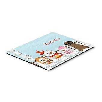Caroline'S Schätze Frohe Weihnachten Carolers Bullmastiff Maus Pad, Multicolor, 7.75X9.25 (Bb2415Mp)