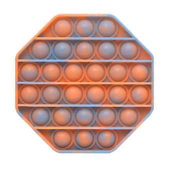 Stuff Certified® Pop It - Washed Fidget Anti Stress Toy Bubble Toy Silicone Octagon Orange-Blue
