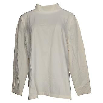 Denim & Co. Women's Top Mock Neck Long-Sleeve White A389884
