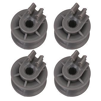 4 x Plastic Dishwasher Gray Upper Dishrack Wheel 4581DD3002A 27x28mm