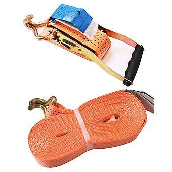 Proplus tension belt with ratchet + 2 hooks 8 meters 5000kg