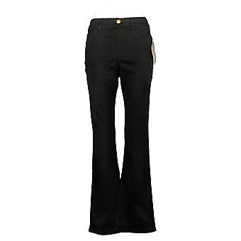 IMAN Global Chic Women's Jeans Pull-On Bootcut Black 734928001