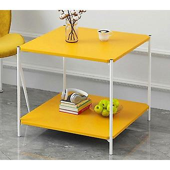 Simple Square Assembly Living Room Side Desk Marbling Sofa Corner Coffe Table