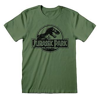 Jurassic Park Herre Klassisk Logo T-shirt