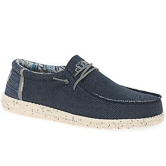 Hey Dude Wally Sox Mens Canvas Shoes