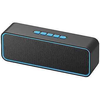 FengChun Drahtloser tragbarer Lautsprecher, TWS Bluetooth 5.0-Lautsprecher mit 3D-Stereo-HiFi-Bass,