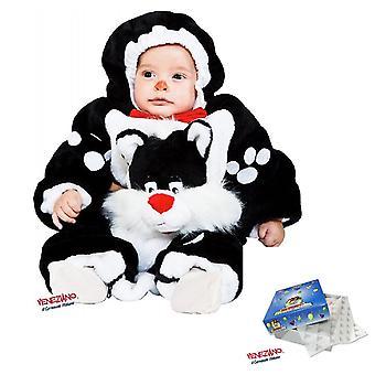 Baby plysj totalt 3211 fra 6 måneder liten katt, kostyme, hette glidelås