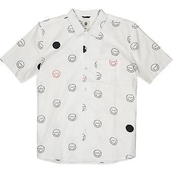 Element Polka Smile Chemise à manches courtes en Hello Off White