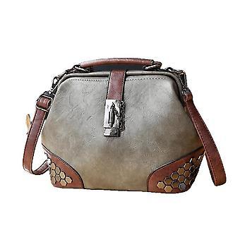 女性ハンドバッグ レザー 小さいドクター クロスボディ ハンドバッグ