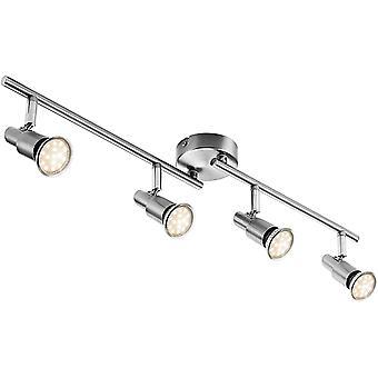 LED Deckenleuchte Deckenlampe, 4-flammig Dreh- und schwenkbar 3W GU10 230V IP20 Metall Warmweiß, für