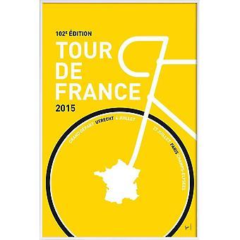 JUNIQE Print - MY TOUR DE FRANCE MINIMAL POSTER 2015 - 2 - Plakat rowerowy w kolorze żółtym & czarnym