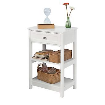 SoBuy al lado de la mesa con cajones blanco, FBT46-W