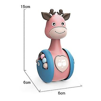 Pink giraffe tumbler doll baby toyscute toys for boys and girls x4596
