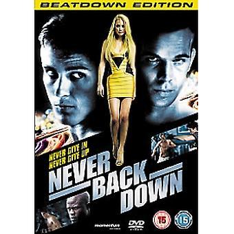 Never Back Down DVD