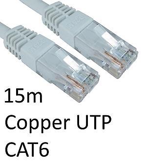 RJ45 (M) à RJ45 (M) CAT6 15m Blanc OEM moulé Câble réseau UTP