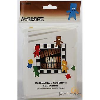 Board Game Sleeves - Oversize (fits cards of 82x124mm) - 100 Sleeves