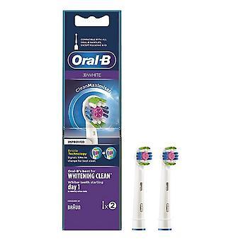 Tête de remplacement 3D Blanc blanchissant propre Oral-B (2 pcs)