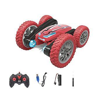لعبة سيارة التحكم عن بعد 2.4g حيلة الانجراف عجلة التحكم عن بعد سيارة القيادة على الوجهين حيلة 360 درجة تناوب سيارة التحكم عن بعد