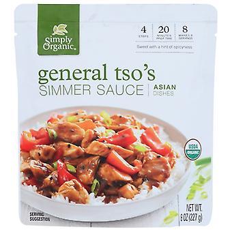 Simpelthen Økologisk Sauce General Tsos Org, sag af 6 X 8 Oz