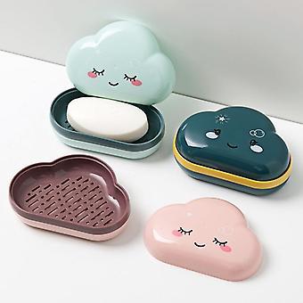 Caja de jabón de baño, Lindo titular de nubes de dibujos animados
