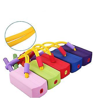 Groene kinderen fitness speelgoed, outdoor springen evenwicht zin indoor trainingsapparaat az13496