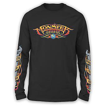 Monster Garage Men's Long Sleeve Shirt Sparks To Fly