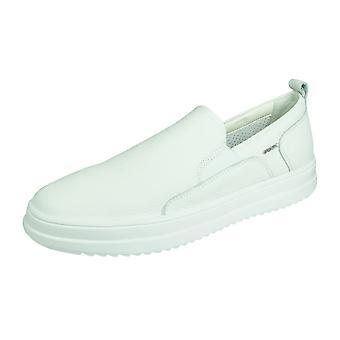 Geox U Tayrvin B Mens Leather Casual Slip On Trainers - White