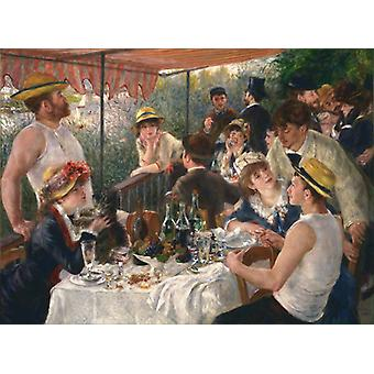 The Luncheon Of The Boating Party,pierre-auguste Renoir Art Reproduction.impressionism Modern Hd Art Print Poster,canvas Prints Wall Art For Home Deco