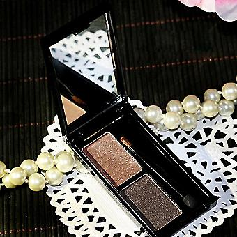 Novo 2 Color Eyebrow Powder Matte&shimmer Waterproof Eye Shadow Make Up Palette