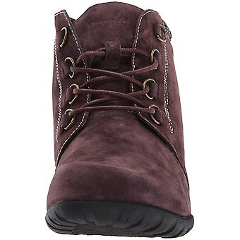 Propét Womens Delaney Leather Round Toe Ankle Fashion Boots