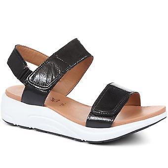 Caprice Womens Touch Fästande Läder Sandaler