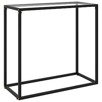 """שולחן מסוף vidaXL שקוף 80x35x75 ס""""מ זכוכית מחוסמת"""