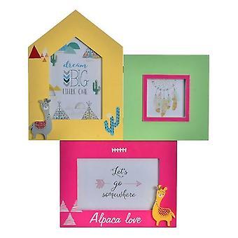 Photo frame DKD Home Decor Alpaca Love Llama (30 x 1 x 37 cm)