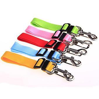 2Pcs ceintures de sécurité pour chiens accessoires voiture de compagnie ceinture de sécurité ceinture de sécurité réglable harnais de ceinture de sécurité plomb chiot voiture animal de compagnie ceinture de sécurité de chien