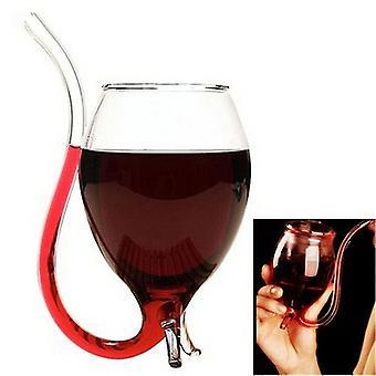 كأس زجاج Wine Mug مع فوهة النبيذ الأحمر القدح أنيقة واضحة هدية حزب عصير كأس 300ml(1PC)