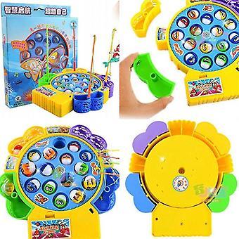 Elektronisk magnetisk fiskeri Legetøj Muscial Magnet Fiskeri Game Plastic Music Fish Plate Legetøj